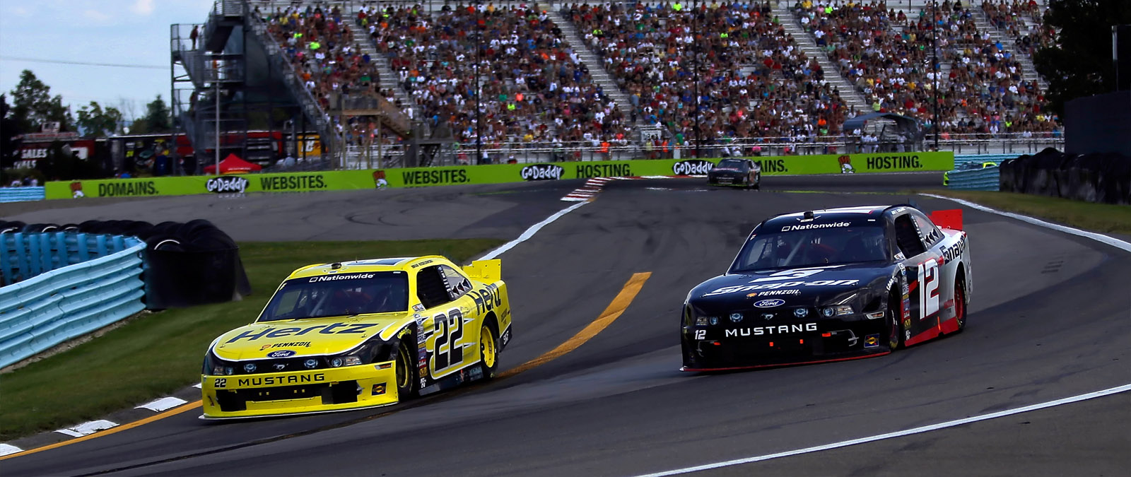 Logano and Keselowski Racing At the Glen