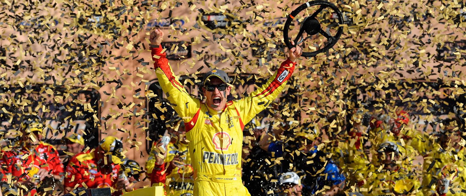 Logano Wins at Kansas Speedway